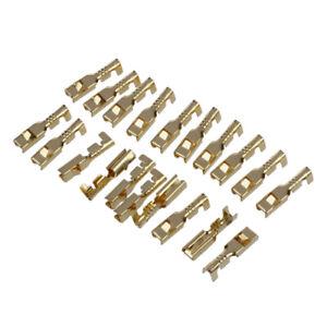 20Pcs weiblichen Spaten Kabeldraht Klemmen fuer 2,8 mm Stecker P7M1