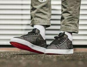 Nike-SB-Blazer-Mens-Trainers-UK-Size-9-Zoom-Skate-Shoes-Black-White