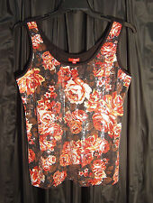 FULL FRONT SEQUINS KNIT TANK CAMI CAMISOLE TOP JUNIOR/PLUS/MISSES~ 1X~XL~XXL~NEW