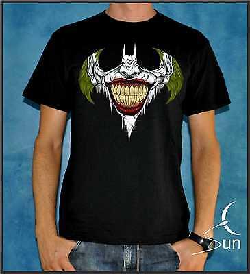 CAMISETA 138 BATMAN JOKER DARK KNIGHT COMIC DC GOTHAM CITY T-SHIRT SIL OUT