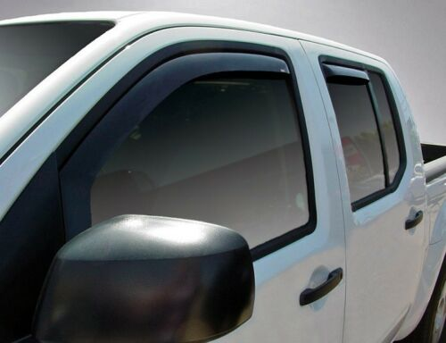 In-Channel Vent Visors for 2000-2004 Nissan Frontier Crew Cab