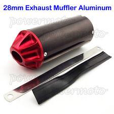28mm Exhaust Muffler For 50cc 90cc 110cc 125cc XR50 CRF50 Pit Dirt Bike Red
