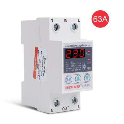 SINOTIMER SVP-912 230V 40A//63A Under//Over Voltage Protector Relay Breaker LED 5P