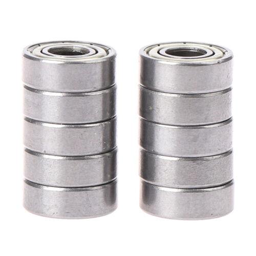 10pcs deep groove spherical carbon steel miniature bearings 696Z PZ