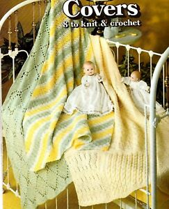 0fb2da9b648a LEISURE ARTS Crib Covers 8 Designs Baby Knit   Crochet Pattern ...