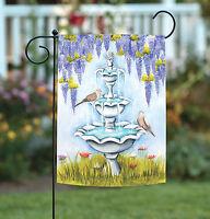 Toland - Bird Bath - Cute Spring Flower Floral Garden Flag