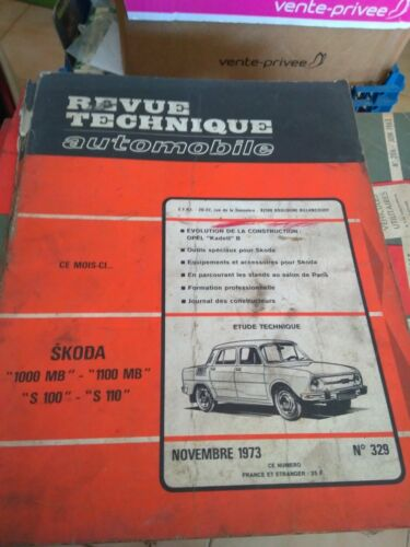 RTA revue technique automobile N° 329 SKODA NOV 73