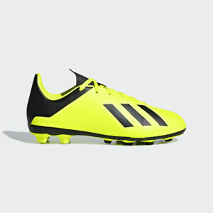 d3dfbbbfcd17a Details about Youth Adidas Kids X 18.4 FG Soccer Cleats (Solar Yellow Black)  DB2420