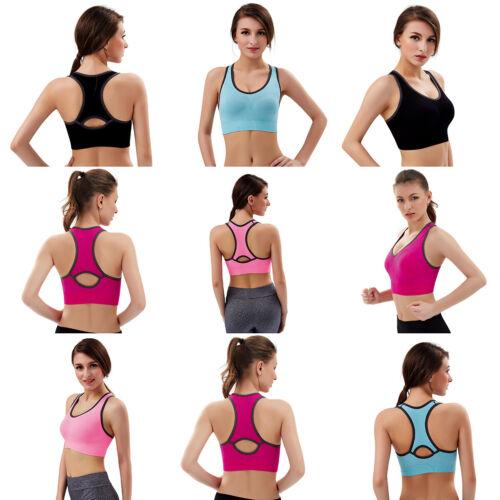 Damen Sport BH Fitness Top Bustier Bra Push-Up Microfaser wohlfühl bh ohne Bügel