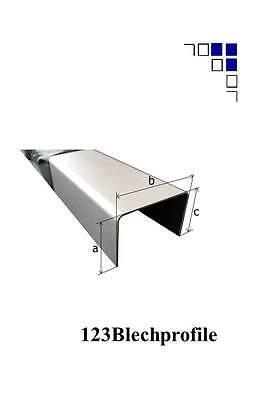 Edelstahl Zaun Abdeckprofil uProfil Innen 45 mm 1.4301 Gebürstet//Schliff Korn320