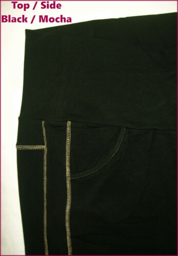 TRACK PANTS Sz M L XL XXL Soft Trackpants New Maternity BLACK LEISURE LOUNGE