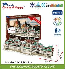 Free shipping Clever&Happy 3D Puzzle Model Hungarian Parliament Building Paper