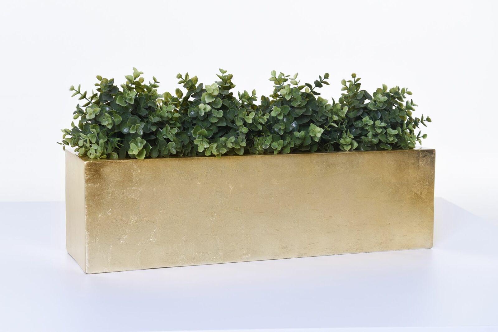 Flores recuadro pflanzkasten tiesto para plantas de fibra de vidrio  flobo , 60 cm oro alto brillo