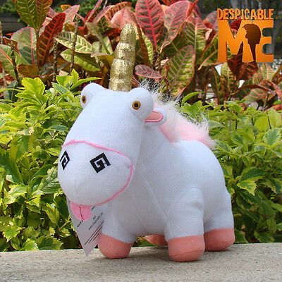 "8"" Despicable Me 2 Soft Toys Fluffy Unicorn Agnes Plush Stuffed Animal Toy Doll"