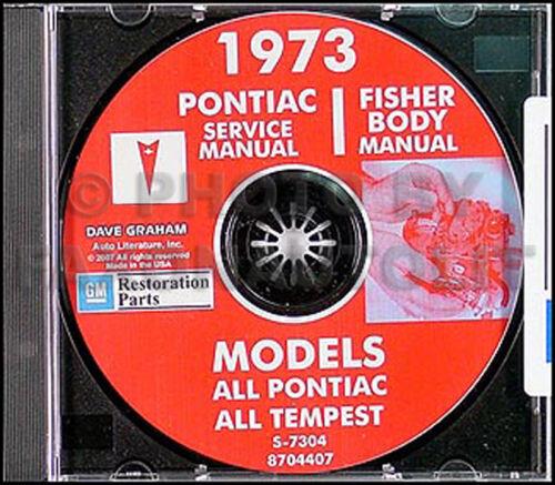 1973 Pontiac CD Shop Manual and Body Repair Bonneville Catalina Grandville Wagon