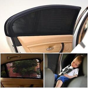 2x Car Window Shade Rear Side Sun Visor Mesh Cover Shield UV Protector G