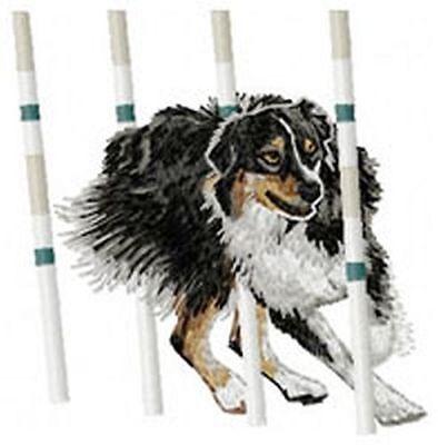 "Embroidered Patch 2.6/"" Tall Aussie Dog Australian Shepherd"
