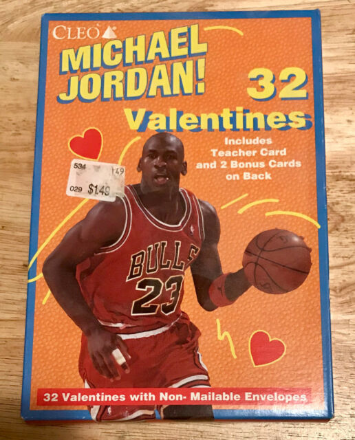 09e3959a766625 1980s Michael Jordan Valentines by Cleo Set of 32 Basketball Cards ...