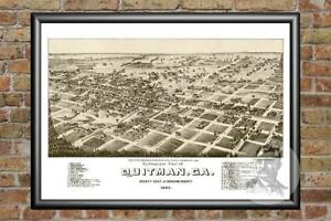 Old-Map-of-Quitman-GA-from-1885-Vintage-Georgia-Art-Historic-Decor