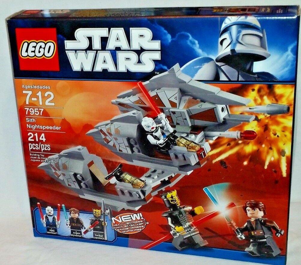 7957 LEGO Star Wars SITH NIGHTSPEEDER Asajj Ventress Savage Opress 214pc RETIRED