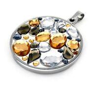 Energetix 4you 2879 Magnetixcolore Kristallpave Dorado Edelstahl Amulett Kette