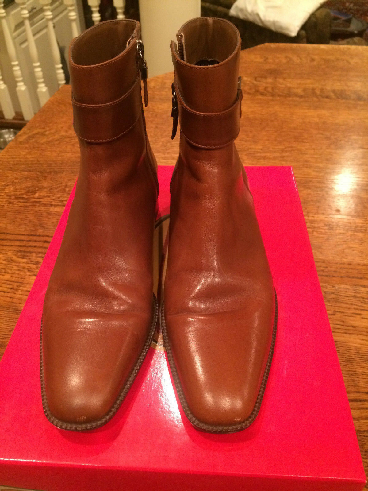 Talbots Rorie Sienna  Leather Ankle Boots