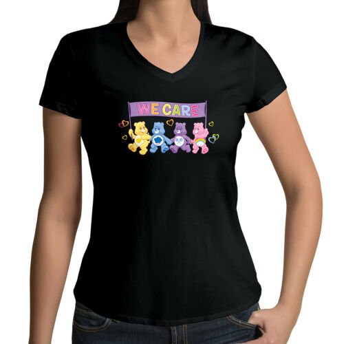Care Bears Grumpy Funshine Cheer Share Bear Girls Juniors V-Neck Tee T-Shirt Top