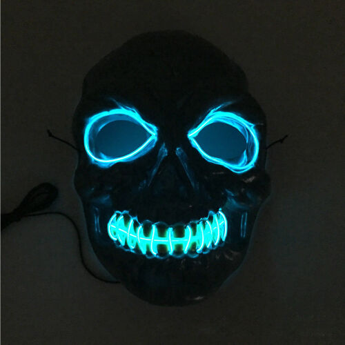Halloween Movie Flash LED Wire Scary Mask Party Cosplay Costume Luminous Mask