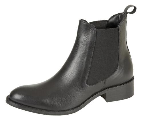 et dame pour en 9 Bottes noires à de 3 tailles cheville à double soufflet de Chelsea cuir revendeurs vw8U8