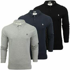 Mens-Polo-T-Shirt-by-Original-Penguin-039-Winston-039-Long-Sleeved