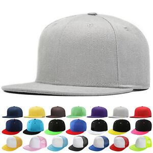 f1a6ab6eb9b New Fashion Blank Plain Snapback Hats Hip-Hop adjustable bboy ...