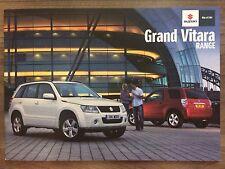 SUZUKI GRAND VITARA 2011 RANGE CAR BROCHURE. SZ4 SZ5 SZ3 3 & 5 DOOR 2.2 1.9 DDiS
