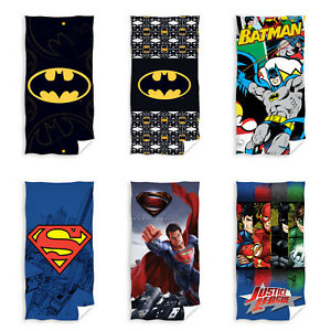 Batman-Superman-Justice-League-Badetuch-Handtuch-Strandtuch-70-x-140-cm