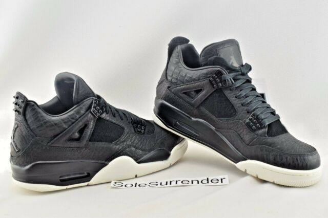 65dda0fcbbf Nike Air Jordan 4 IV Retro Premium 819139-010 Croc Pinnacle Black Sail Sz 13