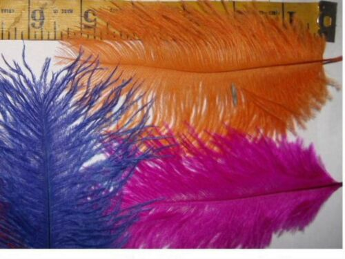 """Small 4-6/"""" OSTRICH 20 fly tying Feathers Random Color MIX Lure bait lure hurl"""