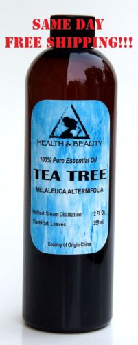 TEA TREE ESSENTIAL OIL by H&B Oils Center AROMATHERAPY 100% PURE 12 OZ