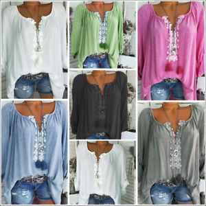 Boho-Women-Long-Sleeve-Kaftan-Baggy-Blouse-T-Shirt-Tops-Casual-Tunic-Plus-Size