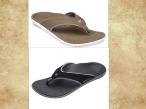 MENS-Spenco-arch-support-sandals-flip-flops-thong-shoes