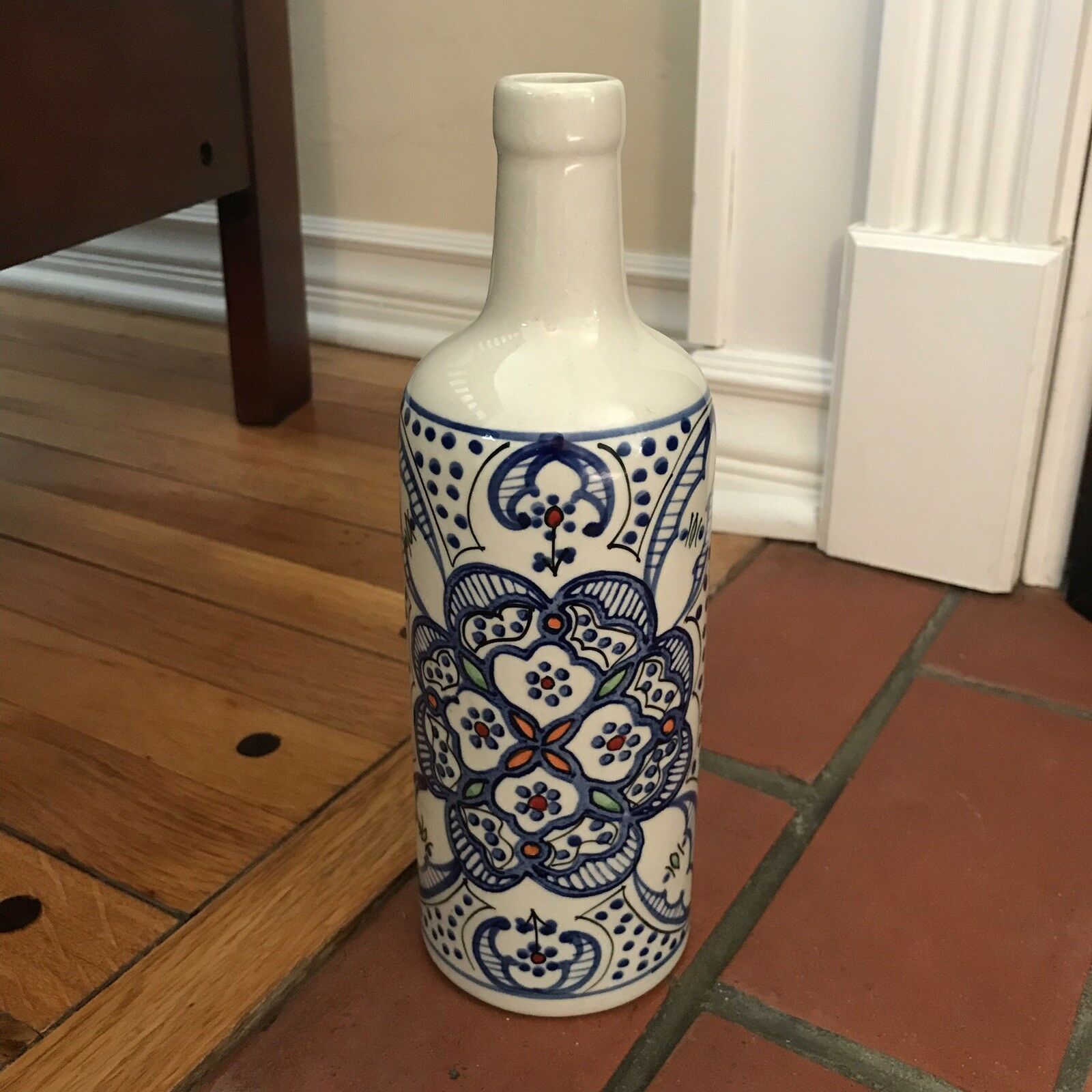 Turkish Style Ceramic Multicolord Decorative Bottle   Vase
