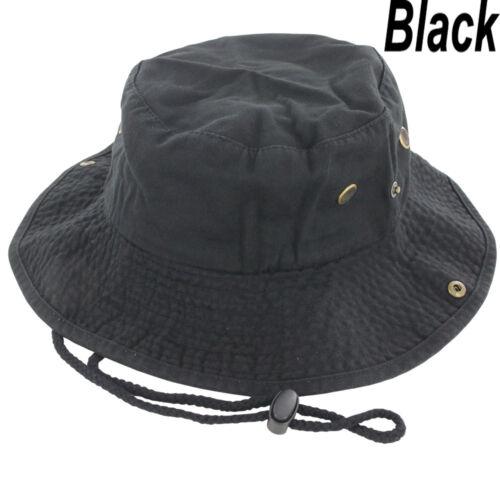 Outdoor Sun Boonie Bucket Hat Summer Military Cap Cotton Fishing Hunting Safari