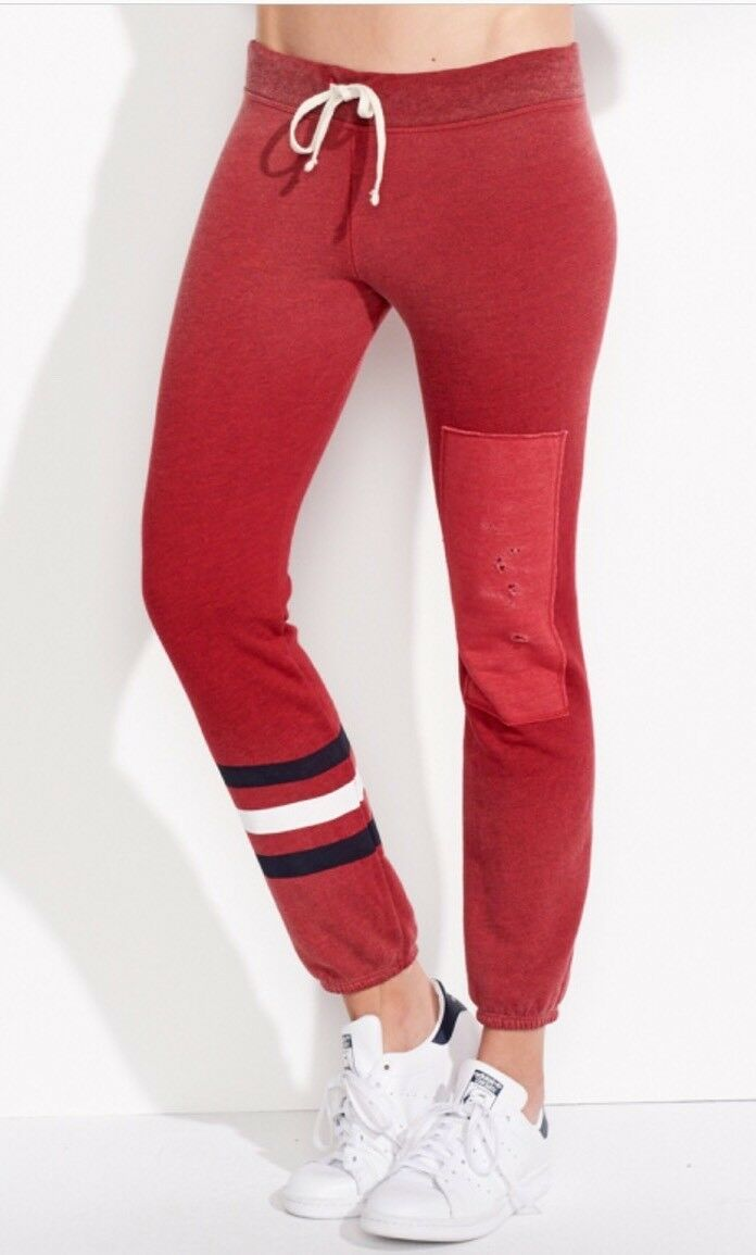 Authentic SUNDRY STRIPES & PATCH SWEATPANTS Size 1, Red  138.