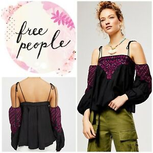 58948e2f33ce0 Free People Vacay Vibin Top Blouse Off The Shoulder Size Medium NWT ...