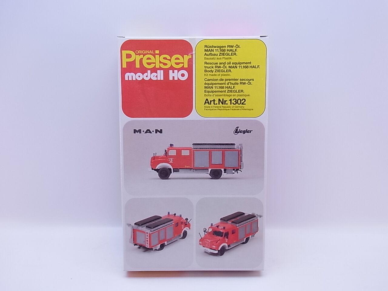 Lot 23611   preiser h0 1302 RÜSTWAGEN RW-pétrole on 11.168 nouveau dans neuf dans sa boîte