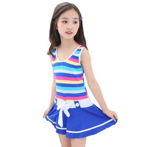 Girls One-piece Swimsuit Lovely Bathing Suit Beachwear Children Swimwear Dress
