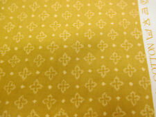 "Gold Quatrefoil Crosses ""Clifton"" Printed 100% Cotton Curtain Fabric"