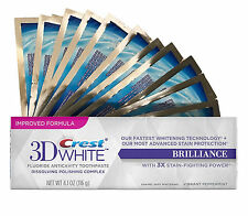 28 TEETH WHITENING WHITE STRIPS + CREST3D BRILLIANCE WHITENING TOOTHPASTE