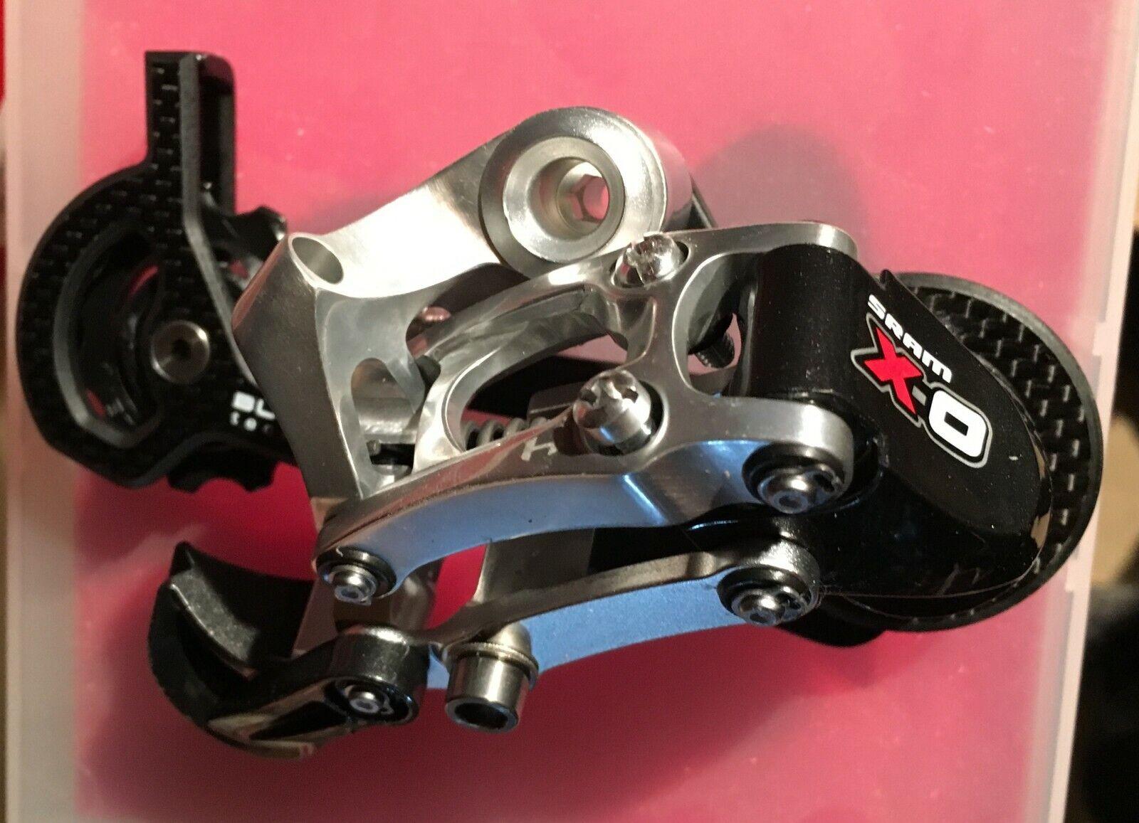 Cambio bici posteriore MTB Sram X0 lungo cage 9s rosso mountain bicicletta rear deraillur