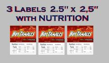 3 Product Vending Machine Candy Laminated Label With Nutrition