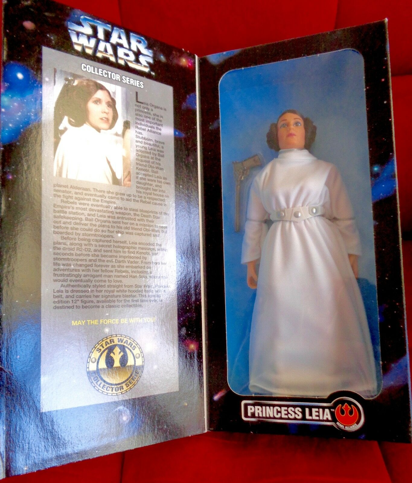 PRINCESS LEIA LEIA LEIA Star Wars 12  Figure Carrie Fisher Collector Series Doll NEW 1996 6b94aa