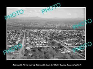 OLD-LARGE-HISTORIC-PHOTO-OF-TAMWORTH-NSW-VIEW-OF-THE-TOWN-c1950